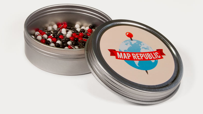 map republic push pins