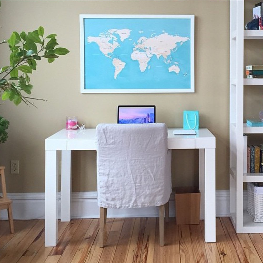 map-above-desk
