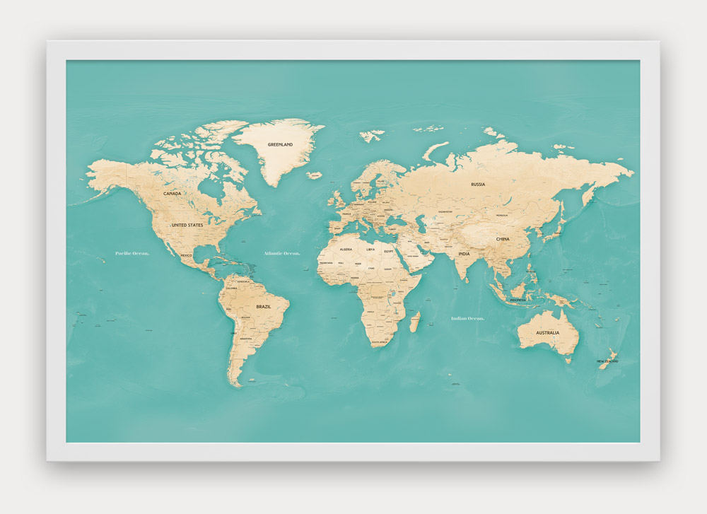 World & USA Push Pin Travel Maps - Designed by Map Republic