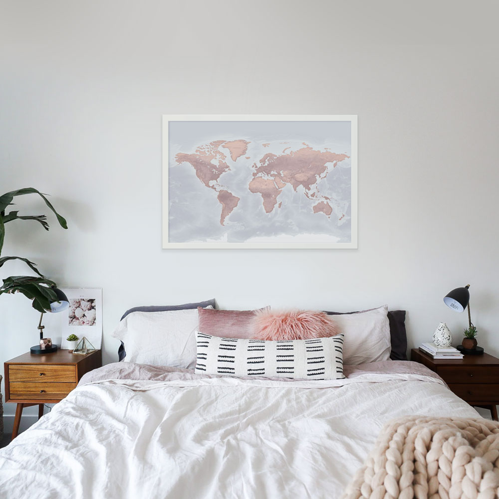 Blush Push Pin Map - Designed by Map Republic