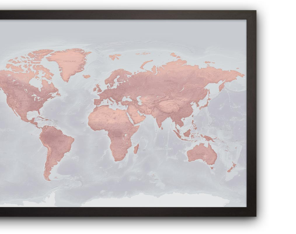 marrakesh world map black frame mobile